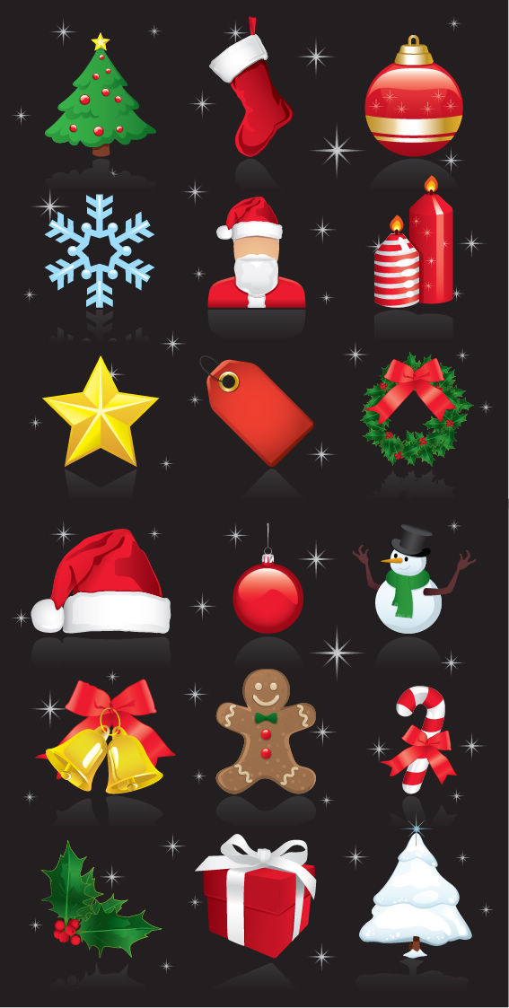 free vector Christmas Ornaments Vector Set