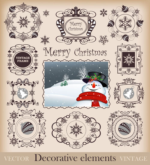 free vector Christmas pattern border 02 vector