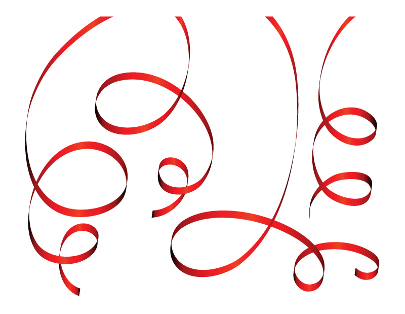 free vector Christmas ribbon vector