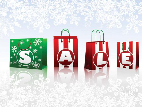 free vector Christmas sales discount decorative elements vector