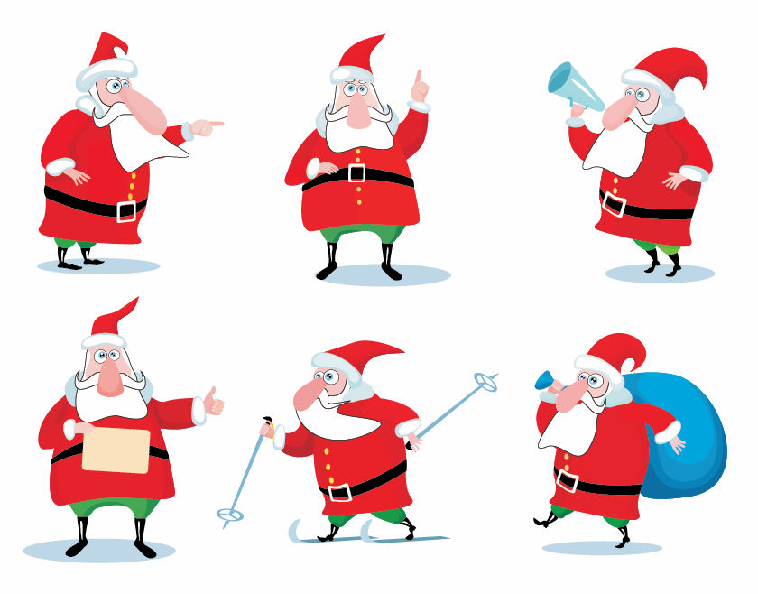 free vector Christmas Santa Claus Vector Set