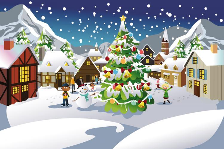 free vector Christmas scene illustration 03 vector