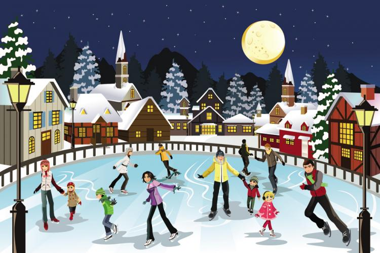 free vector Christmas scene illustration 04 vector