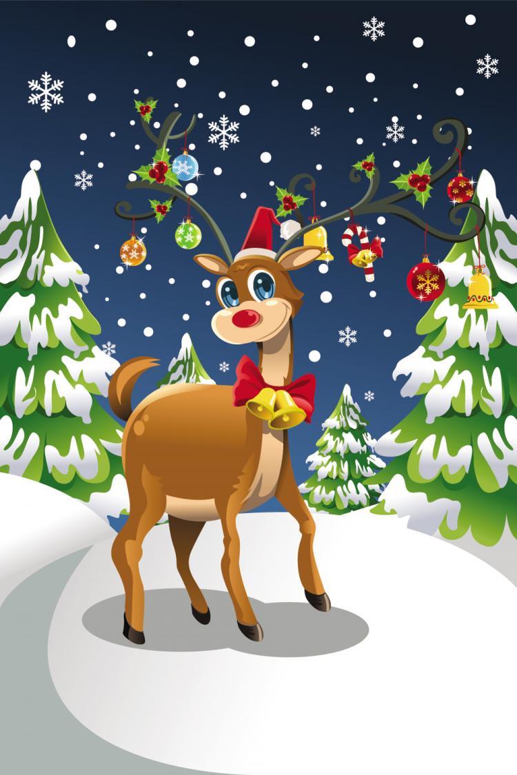 Christmas Scene.Christmas Scene Illustrator 24884 Free Eps Download 4 Vector
