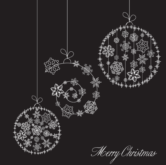 free vector Christmas snowflake ornaments vector