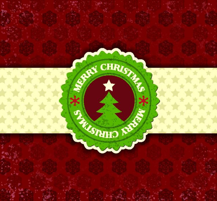 free vector Christmas snowflake pattern label 03 vector