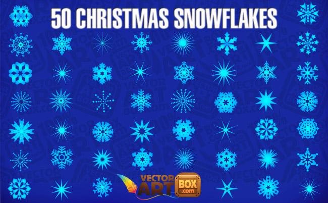 free vector Christmas Snowflakes
