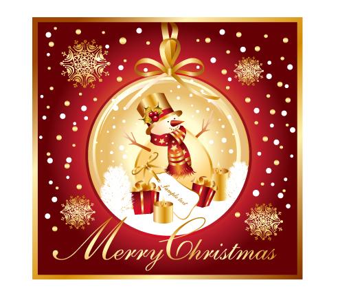 free vector Christmas snowman snowflake vector