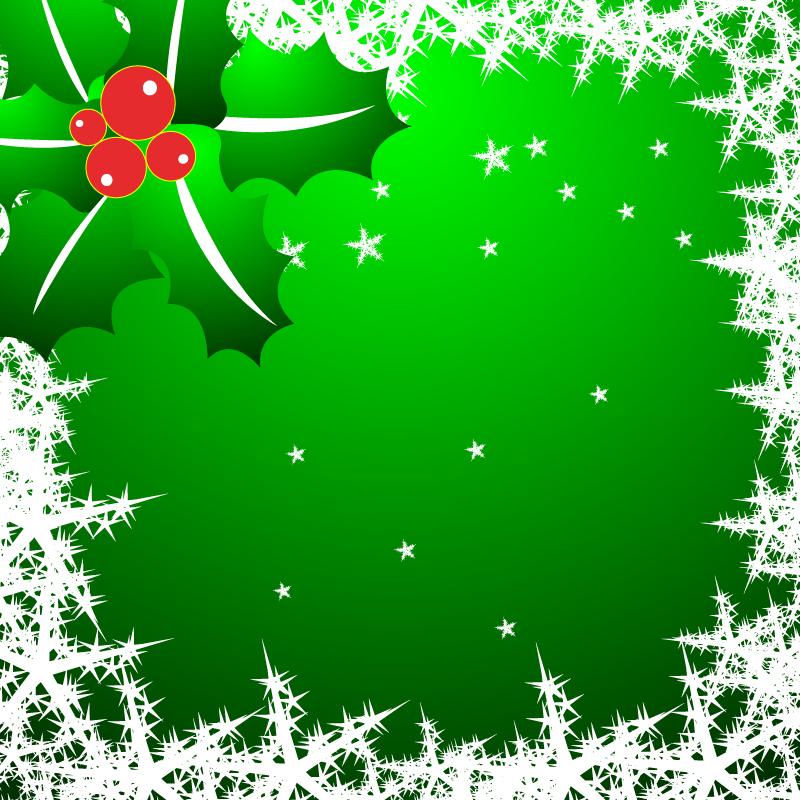 free vector Christmas star snowflake border clip art