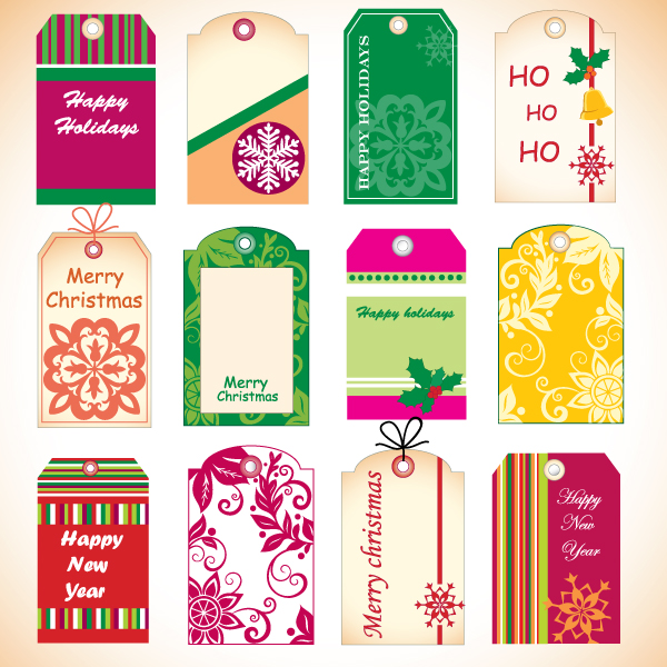 free vector Christmas tag vector