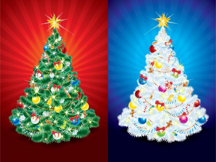 free vector Christmas tree 01 vector