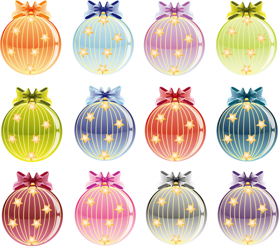 free vector Christmas tree and decorative ball vector