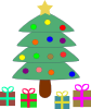 free vector Christmas Tree Gifts clip art