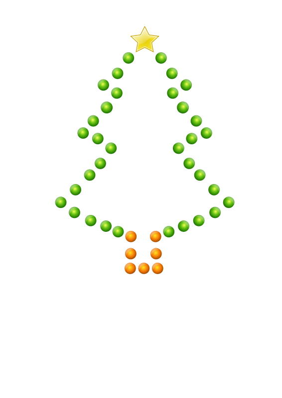 free vector Christmas Tree in Lights (Glossy)