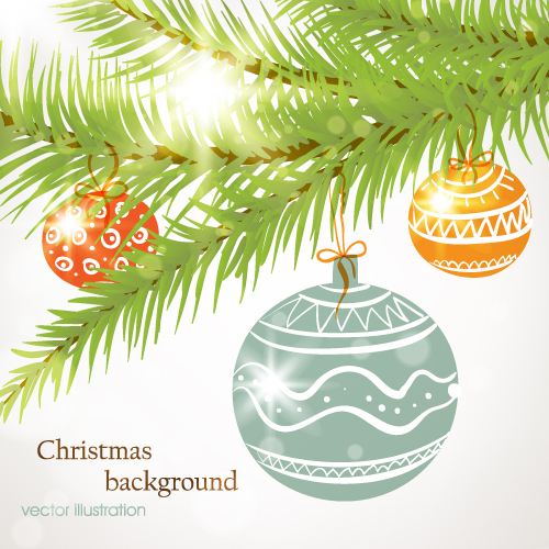 Christmas Tree Decorations Vector Free : Christmas tree ornament vector decorating