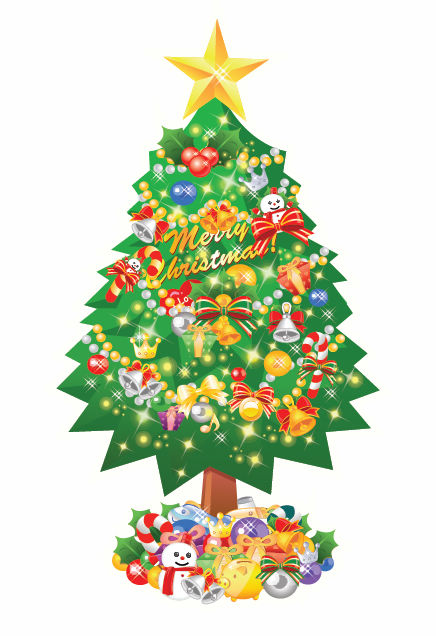 free vector Christmas Tree Vector Illustration