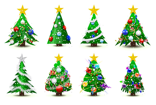 free vector Christmas tree vector
