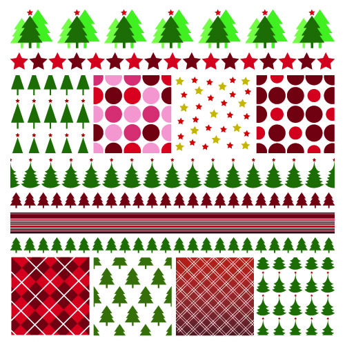 free vector Christmas two sides continuous background 01 vector