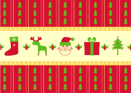 free vector Christmas two sides continuous background 02 vector