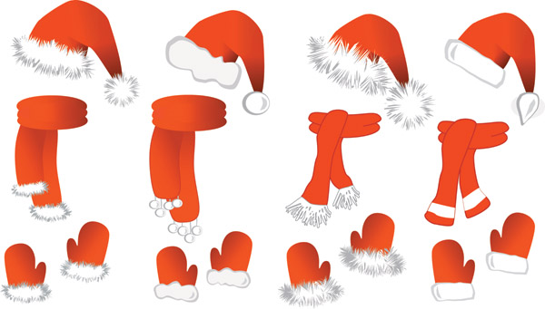 free vector Christmas vector and equipment