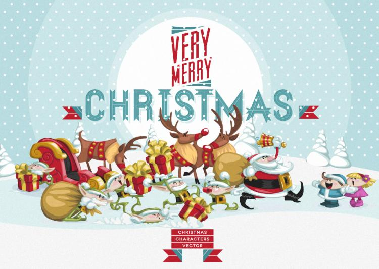 free vector Christmas Vector Art Characters Pack