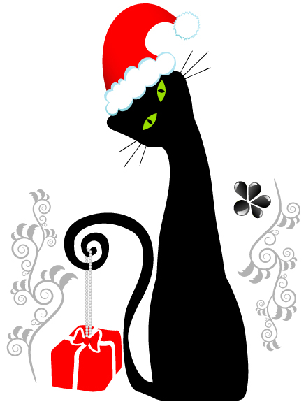Christmas cute cats and dogs (25106) Free EPS Download / 4 ...