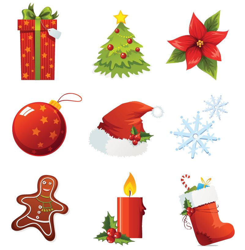 free vector Christmas Vector Icons