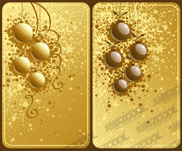 free vector Christmas vector material-2