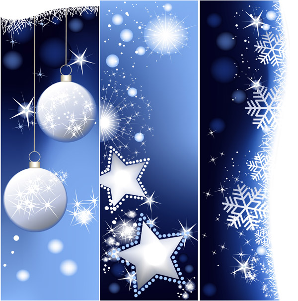 christmas vertical shaped banner vector background free