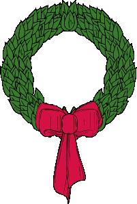 free vector Christmas Wreath clip art