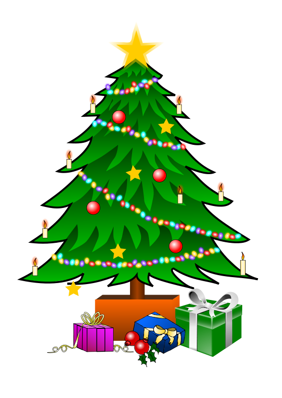 free vector ChristmasTree with Gifts