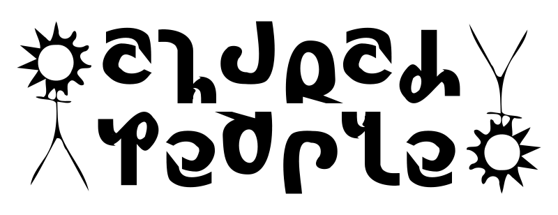 free vector Church People Ambigram