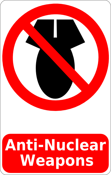 free vector Cibo Anti Nuclear Weapons Sign clip art
