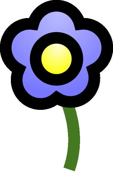 free vector Cie Blue Flower clip art
