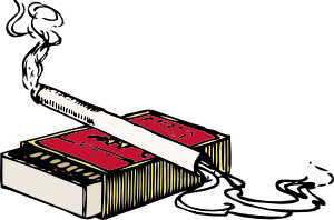 free vector Cigarette And Matchbox clip art
