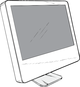 free vector Cinema Display clip art