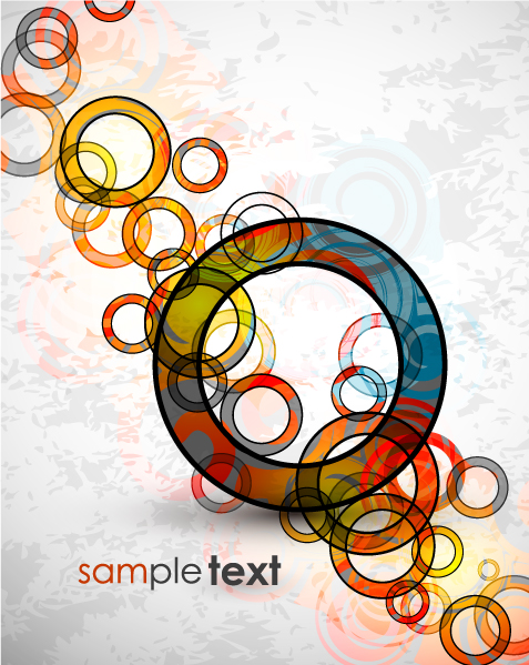 free vector Circular and square pattern vector