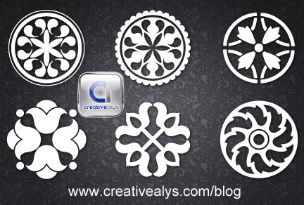 free vector Circular Design Ornaments