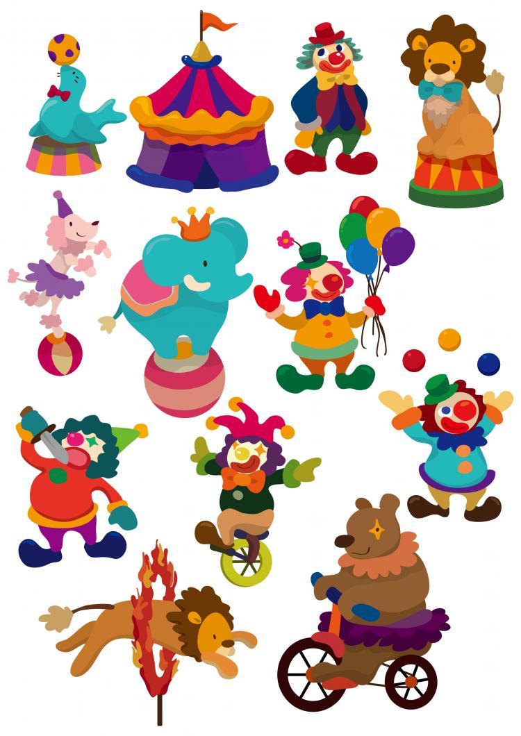 free vector Circus cartoon vector