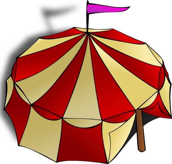 free vector Circus Tent clip art