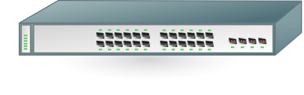 free vector Cisco Network Switch clip art