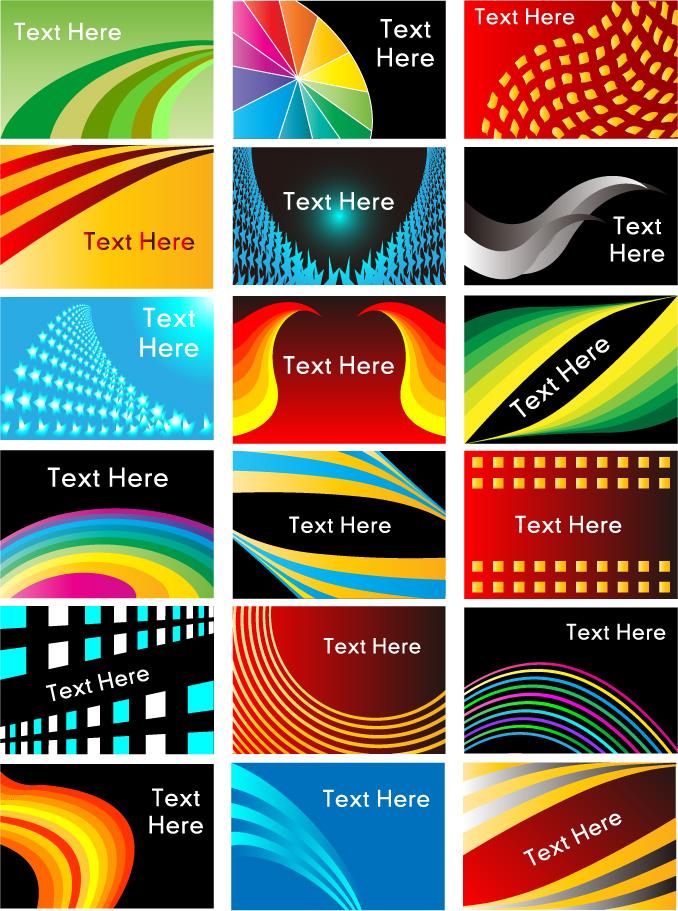 City Lights subject line card template vector material Free Vector – Line Card Template