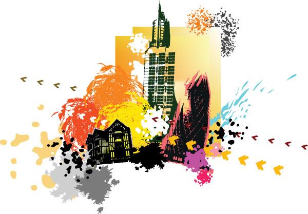 free vector City silhouette 01 vector