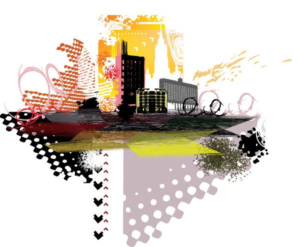free vector City silhouette 05 vector