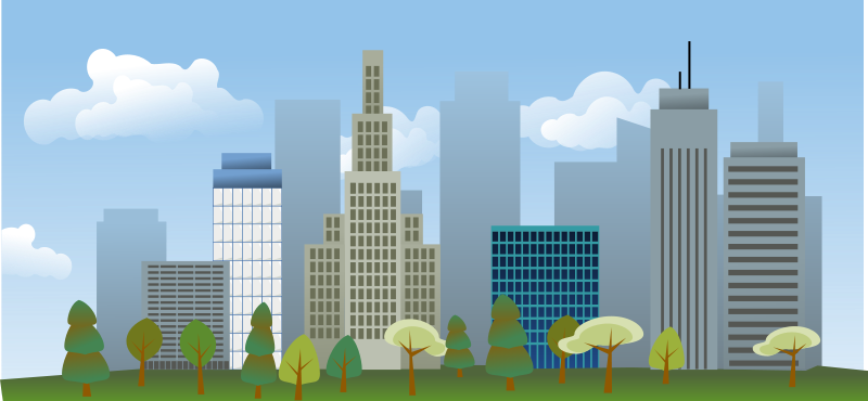 City skyline Free Vector / 4Vector