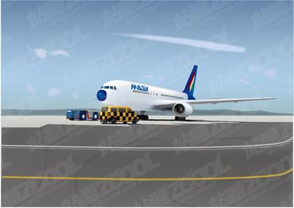 free vector Civilian airliner vector material