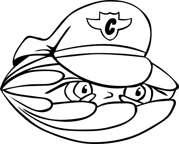 free vector Clam Security Guard clip art