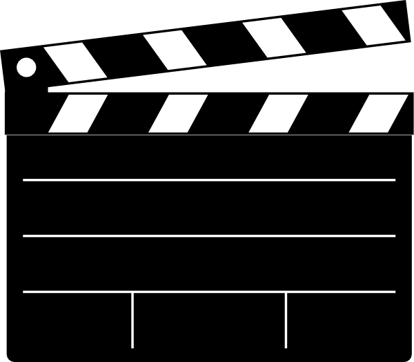 free vector Clapper-board clip art