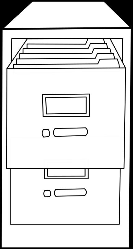 free vector Classeur ouvert / Open file cabinet