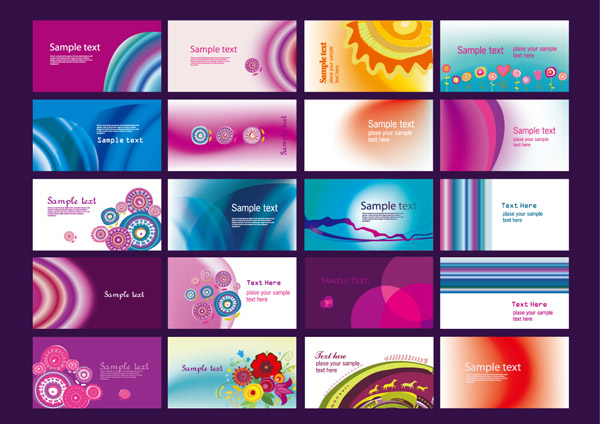 free vector Classic 40 kinds of cards and the trend vector